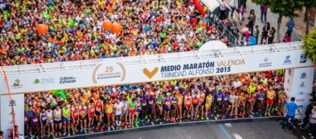 Foto de salida del Medio Maratón de Valencia