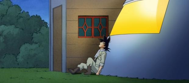 Goku lamentando no poder ir a entrenar