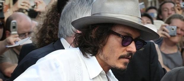 Johnny Depp en la premier de Piratas del Caribe.