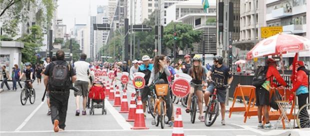 Paulista aberta. Foto:Prefeitura/Heloisa Ballarini