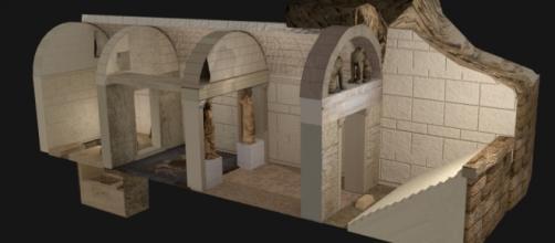 Recreación de la tumba de Anfípolis