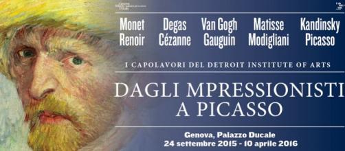 Van Gogh, Monet, Degas, Picasso ad altri a Genova