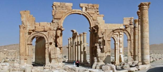 Arco de Palmira tal como se encontraba en el 2010