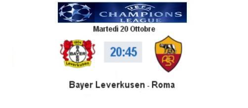 Bayer Leverkusen - Roma in diretta live