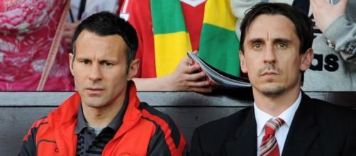 I due ex-calciatori Giggs e Neville
