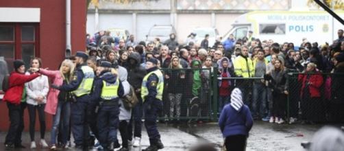 La escuela Kronan en Suecia tras la masacre