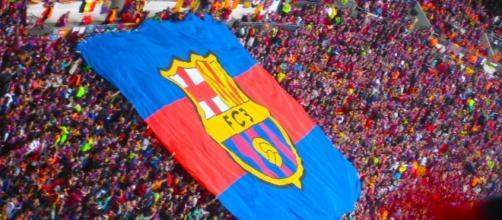Los simpatizantes del Barcelona, expectantes.