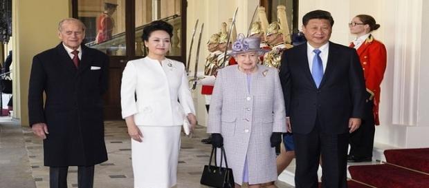 Chinese President Xi Jinping at Buckingham Palace.