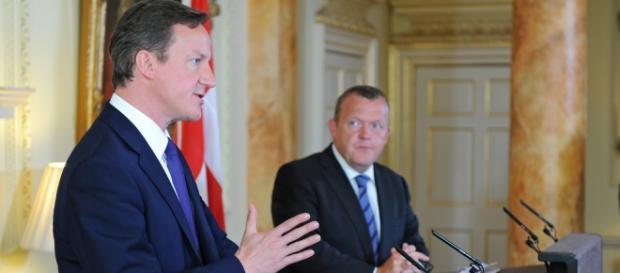 D. Cameron i Lars Løkke Rasmussen, premier Danii