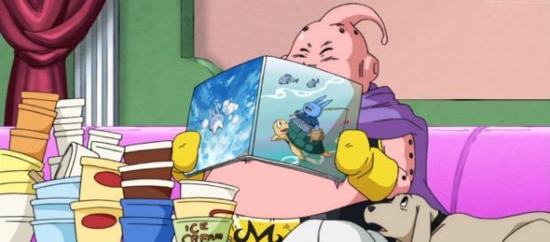 Majin Buu leyendo el manga de Neko Majin Z
