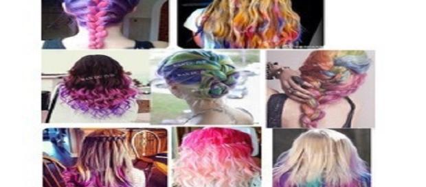 varios cabellos con colores fantasia