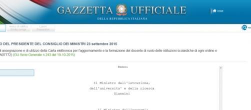 Decreto Bonus da 500 euro docenti