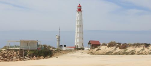 Lighthouse of Farol on Culhatra Island