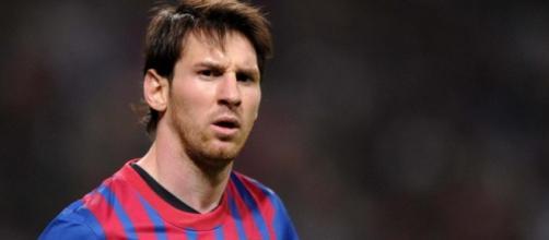Lionel Messi durante una gara col Barça