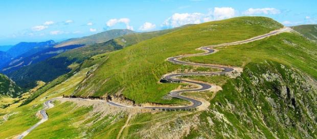 The Transalpina road in Romania.