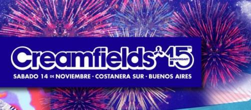 Flyer del 15º aniversario de Creamfields BA