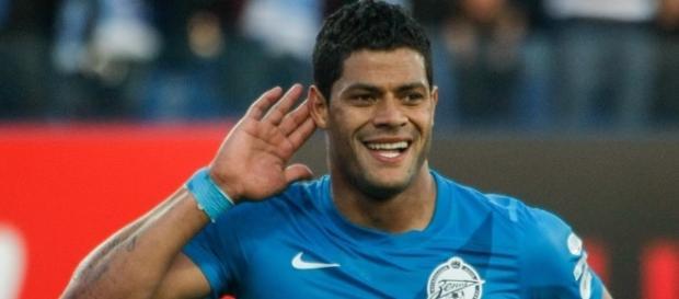 Hulk, comemorando mais um gol pelo Zenit!