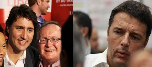 Il premier canadese Justin Trudeau e Matteo Renzi
