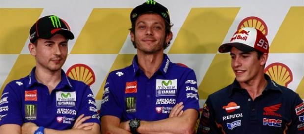Lorenzo, Rossi y Márquez en Sepang
