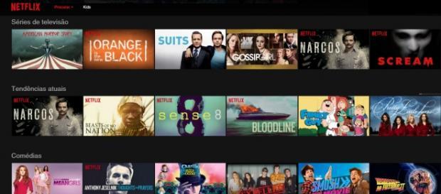 O catálogo conta com séries originais do Netflix.