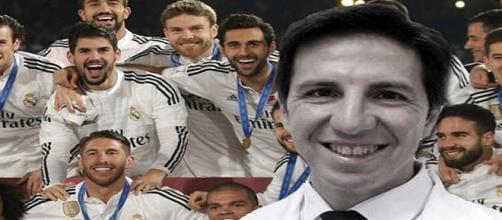 Doctor Olmos con plantilla del Real Madrid