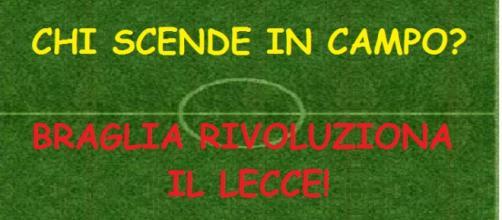 Il Lecce contro il Melfi camba modulo tattico.