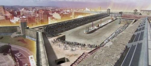 Imagen. Reconstrucción circo romano