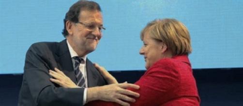 Rajoy y Angela Merkel en el Congreso del PPE