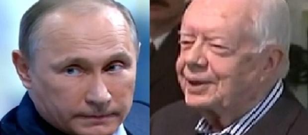 Captura de pantalla Carter y Putin