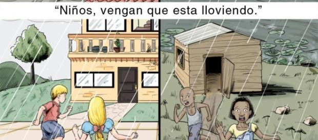 Contrastes entre barrios pobres y ricos