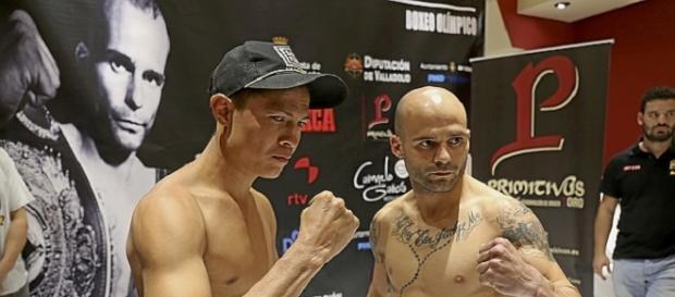 Kiko Martínez y Herald Molina durante el pesaje