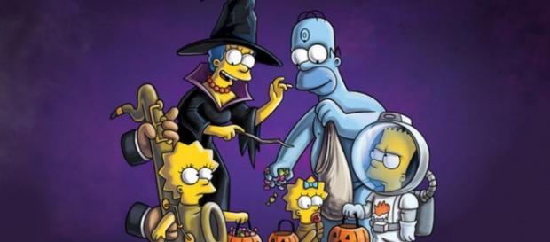 La familia Simpson celebra Halloween
