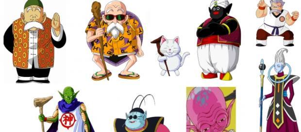 Maestros de Goku a lo largo de las series