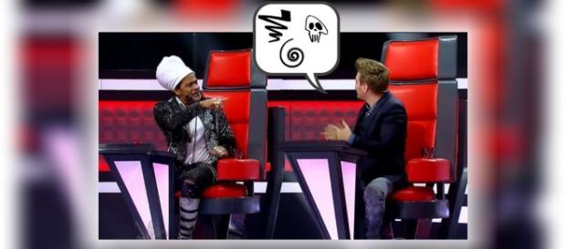 Teló e Brown discutem no The Voice Brasil