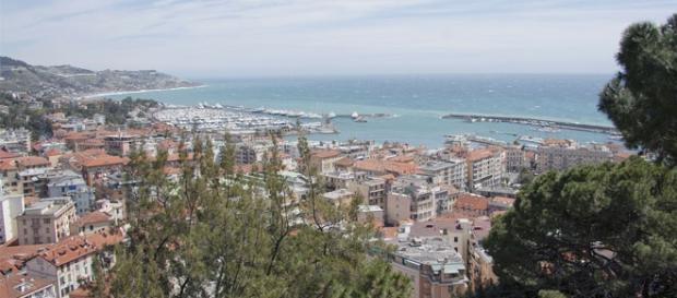 Veduta panoramica della città di Sanremo