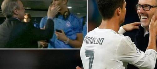 Cristiano Ronaldo y Laurent Blanc