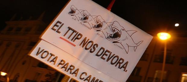 EL TTIP nos devora, Manifestación, Madrid