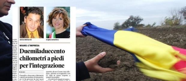 Eu, foto în ziar şi la graniţa Cenad spre Ungaria
