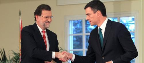 Mariano Rajoy, PP, y Pedro Sánchez, PSOE