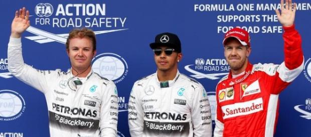 Podio del Gran Premio de estados unidos.
