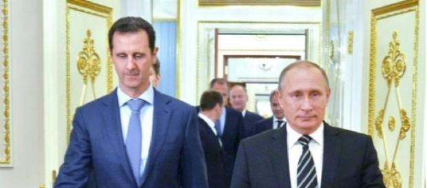 Vladimir Putin and Bashar al-Assad in Syria