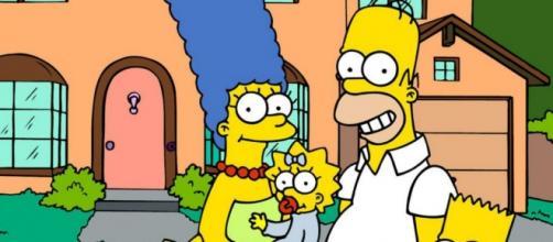 Imagen en familia de los Simpson