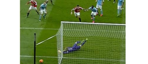 Joe Hart saves from Smalling at the death