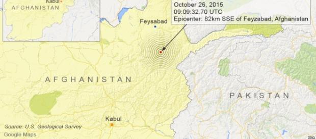 Afgan 7.5 quake felt as far away as India.