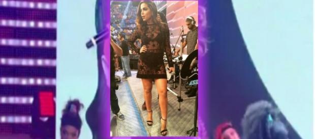 Anitta canta 'Bang' no Domingão do Faustão