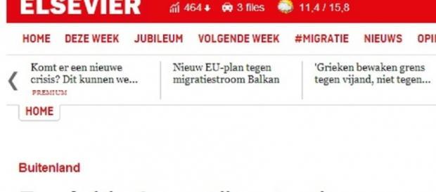 Elsevier o wyborach-screen wydania internetowego