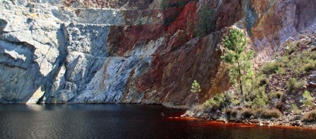 Una de las cuencas mineras de Río Tinto.