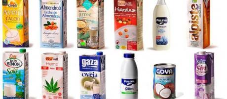 Distintos tipos de leche del mercado
