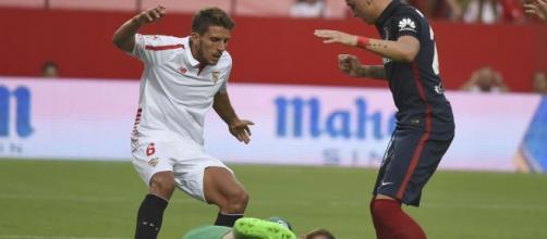 Carriço, en un partido |Foto: Sevilla FC