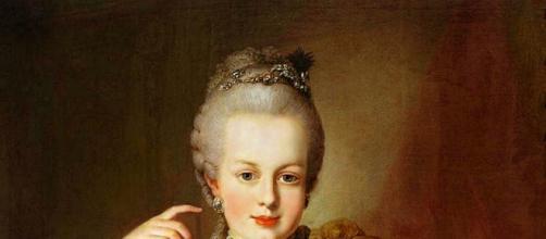 Retrato de Maria Antonieta a la edad de 12 años.